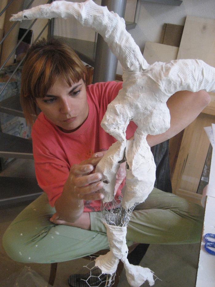 Skulpturen aus Gips