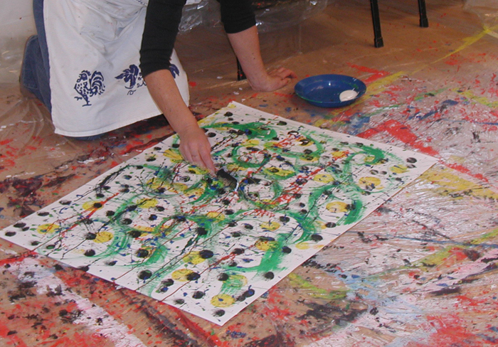 Actionpainting in der Familie