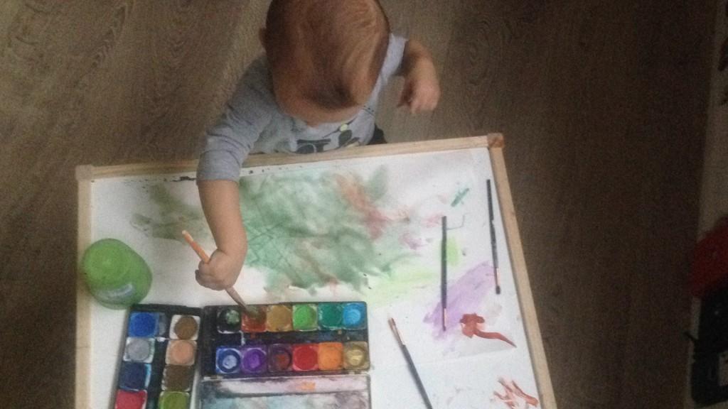 Noah im Atelier.november.2016
